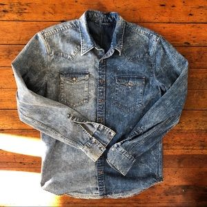 Other - Hand-Made Two-Tone Western Denim Shirt